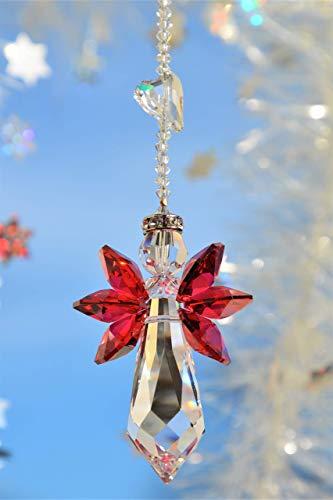 Schutzengel mit Herz – handgearbeitet aus Kristallen von Swarovski®