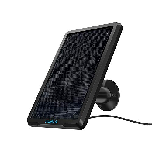 Reolink Solar Panel for External Rechargeable Battery Security Camera Argus 2, Argus PT, Argus Eco, Argus Pro, Go, Adjustable Mount Waterproof Power Supply (with 4 Meter Cable)