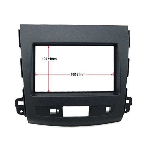 Feeldo Voiture Refitting DVD Cadre Panneau kit Façade d'autoradio Dash radio Audio Cadre pour Mitsubishi 08