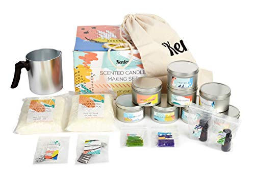 Candle Making Kit - Gift Set for Kids & Adults with Candle Making Supplies - Natural Soy Wax, Green...