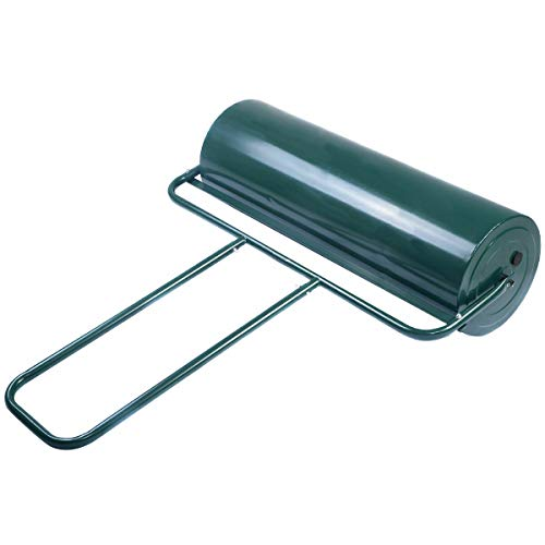 Goplus Lawn Roller Tow Behind Water Filled Push for Garden, Green (12 by 36-Inch)