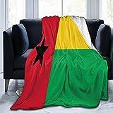 Flanelldecke mit Flagge von Guinea-Bissau, flauschig, bequem, warm, leicht, weich, Überwurf für Sofa, Couch, Schlafzimmer