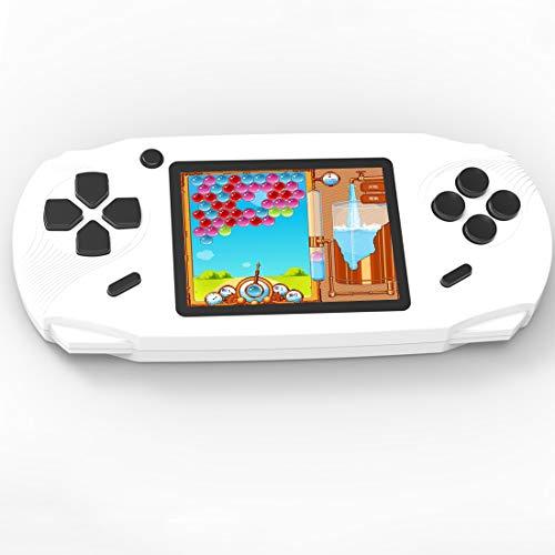 Console de Jeux Portable pour Enfants Adultes Construit en 100 avec 16bit Éducation Jeux Classiques Vidéo Plug & Play et Consoles Système 3.0' LCD Big Écran d'Anniversaire et cadeau de Noël (Blanc)