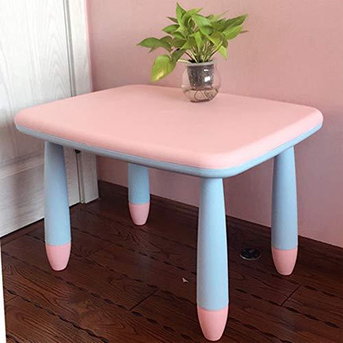 Reeamy-Home Kindertisch Kindertisch Aktivität Schreibtisch Kinder Kunststoff Multifunktionsmöbel Tisch, Bunte Farben ziehen Baby-Kind-Studie Schreibtisch (Color : Style2, Size : 72x56x47cm)