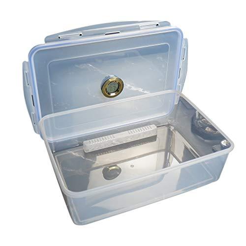 XDD Frasco/Estuche/Caja de Humidificador de Puros de Acrílico Profesional con Humidificador E Higrómetro, Humidor Que Puede Contener Alrededor de 50 Puros Portátil, Sellado Y a Prueba de Humedad