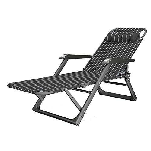 WYDM Tumbona plegable, cama individual para el almuerzo en casa, sillón reclinable...