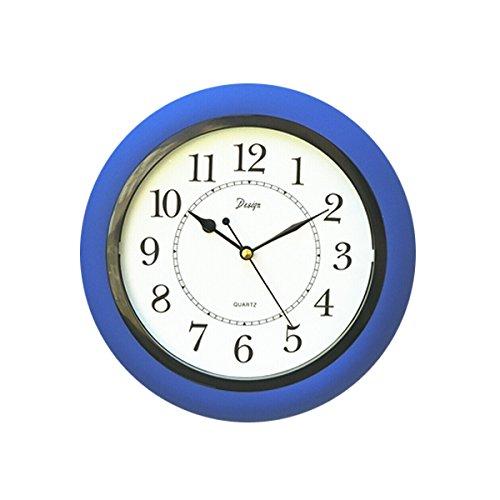 KICKKICK Orologio da Parete in Plastica Colori Vari, Diametro da 27 Cm Quadrante Bianco, Orologio al Quarzo Stile Moderno, Orologio A Muro, Movimento Silenzioso (Blu)
