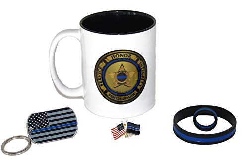 Deputy Sheriff Coffee Cup | Sheriff Seal of Integrity Coffee Cup | Sheriff Coffee Mug | Sheriff Gift | Police Gift | Thin Blue Line Gift Set | County Sheriff Coffee Cup | Police Key Chain