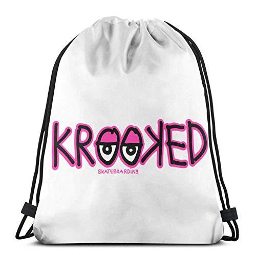 LREFON Gym Bag Krooked Skateboards Fabric Bag,Shoe Bag,Sports Bag,Boys & Girls,Includes Name Print,Customisable