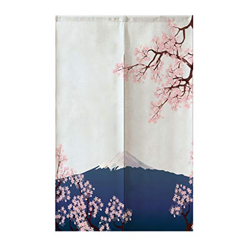 """TJ Global Japanese Noren Doorway Curtain/Tapestry for Home or Restaurant - 33.5"""" x 59"""" (Cherry Blossoms)"""