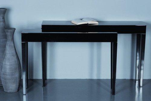 Dressoir *Linea* bijzettafel tafel hout MDF zwart - L130cm