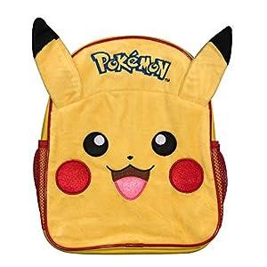 41Z1e675EtL. SS300  - Pokemon Pika Pika Pika 3D Plush Fronted Pikachu Mochila Escuela Bolsa