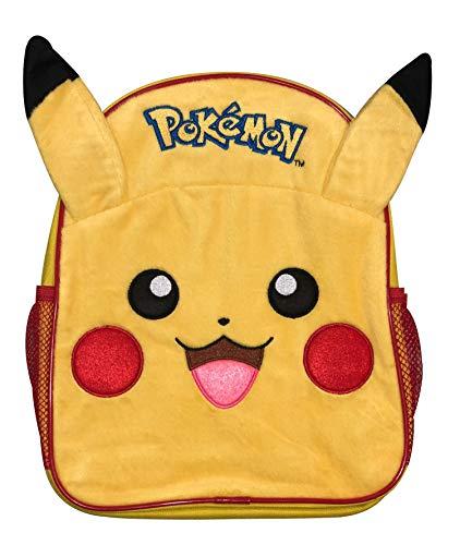 Pokemon Pika Pika Luxury 3D Plush Fronted Pikachu Backpack School Bag