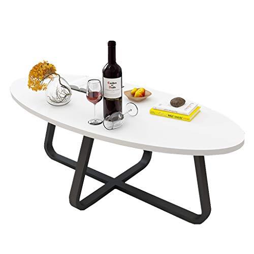 C-J-Xin balkon vrije tijd tafel, woonkamer ovaal eettafel salontafel kleine woning houten theetafel, 100 * 50 * 45 cm ruimte besparen