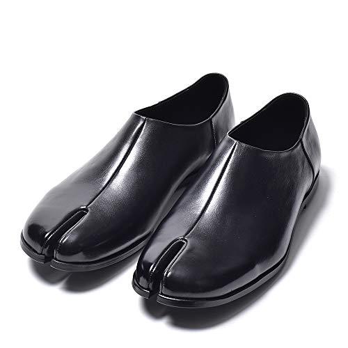 [エンデヴァイス] レザー 足袋スリッポンシューズ メンズ ローファー カジュアル 本革 革靴 短靴 ドレスシューズ シューズ 靴 国産 日本製 44 27.0cm ブラック