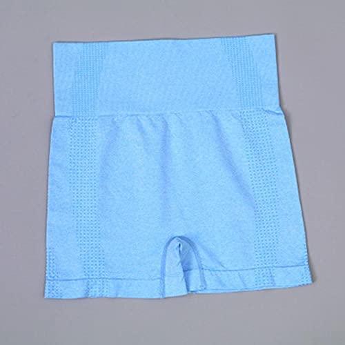 BUXIANGGAN Shorts Pantalones Cortos Mujer Shorts Deportivos para Mujer Running Yoga Gymnastics Workout Shorts-Blue_M