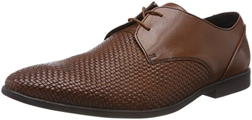 Clarks Herren Bampton Weave Derbys, Braun (Tan Leather), 41.5 EU