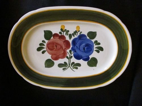 Villeroy & Boch Bauernblume: Fleischplatte / Platte, ca 35 x 24 cm