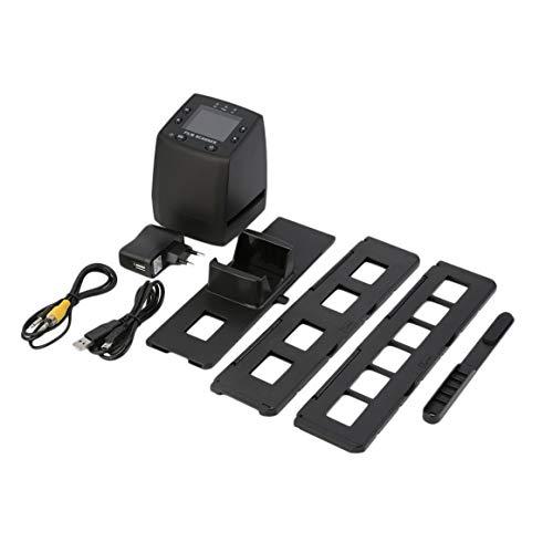 Digitalizador de Alta resolución Funnyrunstore Convierte Diapositivas Negativos en USB Escaneo fotográfico Convertidor de película Digital portátil 2.4 Pulgadas LCD