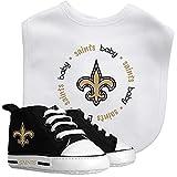 Baby Fanatic NFL Legacy Infant Gift Set, New Orleans Saints, 2Piece Set (Bib & PRE-Walkers)