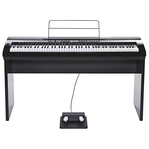 Fame DP-4000 PE Digital Piano schwarz (Elektronisches Klavier für Einsteiger mit Hammermechanik, 88 Tasten, MIDI, USB und 2 Kopfhörer-Anschlüsse)