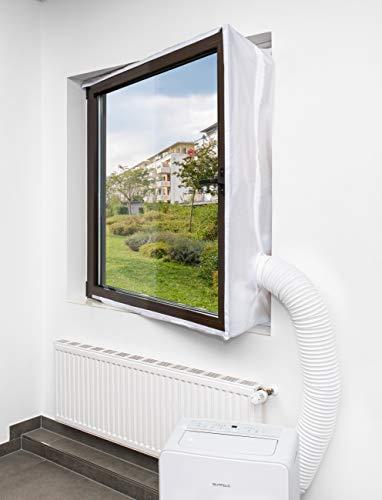 KLARBACH Fensterabdichtung Has_01 | Optimal für Mobile Klimaanlagen und Abluft-Trockner | 4 Meter Länge | Weiß