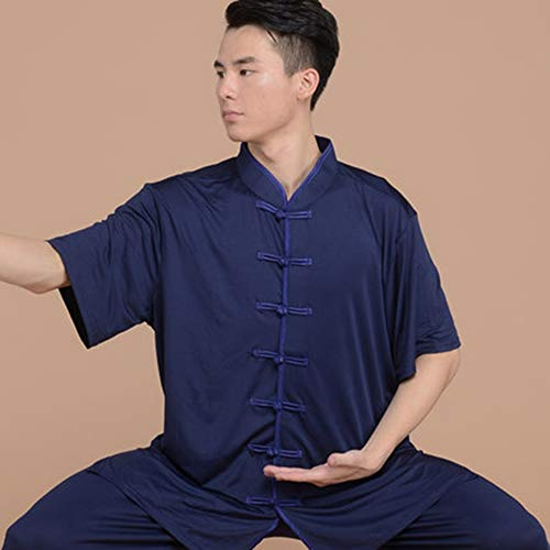 MOUXIAOMI Tai Chi Uniforme De Wushu Traje Ropa Qi Gong Artes Marciales Wing Chun Kung Fu Shaolin Entrenamiento De Taekwondo Paños Ropa Ropa para La Tercera Edad Principiantes Hombres Mujeres Artritis