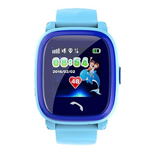 VIDIMENSIO GPS Telefon Uhr Kleiner Delfin WASSERDICHT, OHNE Abhörfunktion, für Kinder, SOS  Abbildung 3