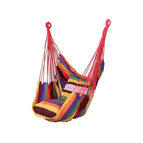 SHUAISHUAI Silla de Hamaca Ocio Switch Silla Colgante Rodamiento de Lona 150 kg Incluyendo Almohada Interior Hamaca al Aire Libre Jardín Muebles de Ocio Fácil instalación (Color : Flower)