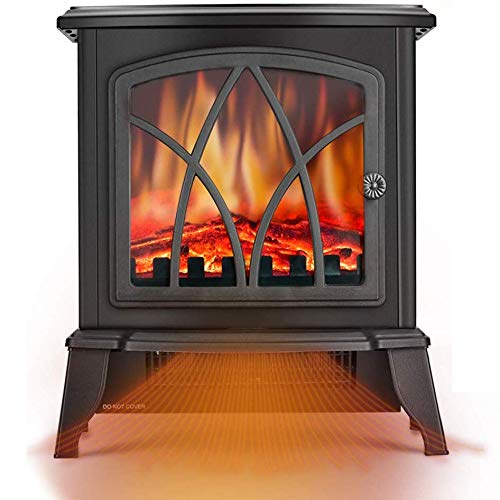 Infrared Space Heater - Electric Fireplace Heater with 3D Flame Effect, 2 Heat Modes, 1500W Ultra Strong Power, Adjustable Flame Brightness, Overheat Protection, Free Standing Fireplace Stove Heater Heater Infrared Space