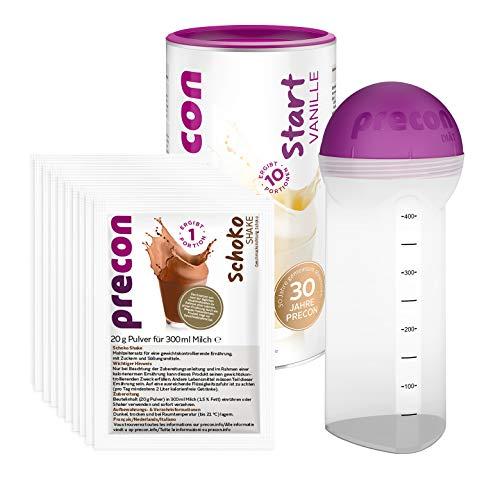 Precon BCM Diät Probierwoche – Start Vanille – 20 Shake Portionen – 1 Shaker – 1 Precon Handbuch – Mahlzeitenersatz für eine gewichtskontrollierende Ernährung