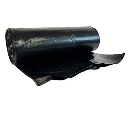 Hocz Rouleau de 10 sacs poubelle noirs en polyéthylène basse densité I 240litres I Type 021 I Taille XXL I 70 µ I Noir