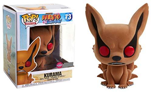 Funko Pop Animation Shonen Jump Naruto Shippuden Kurama Flocked Exclusive 73 FLOCKED