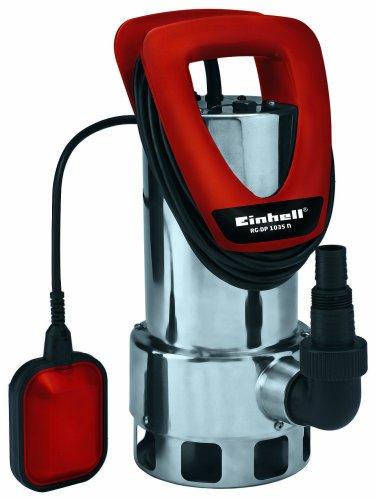 Einhell Schmutzwasserpumpe RG-DP 1035 N (1050 W, max. 18500 l/h, max. Förderhöhe 8 m, Fremdkörper bis 35 mm, Edelstahl-Pumpengehäuse)