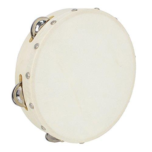 A-Star AP3312 8 inch Handheld Headed Tambourine, Traditional Single Jingle...