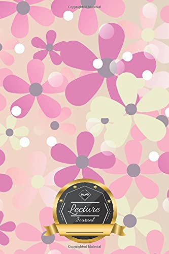 Lecture Journal: Pastel flowers • Pink purple • Colorful notebook • EN.01h • For Notes during Talks • Presentations • Speeches • 100 pages ║ Notebook - 6x9 - DIN A5 ║ for Professors, Students, Teacher ║ small gift