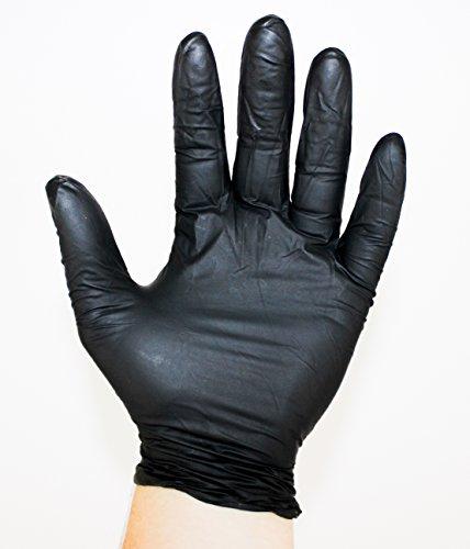 Black Nitrile Gloves, Powder Free, Medical Grade, Semperforce, 100/Box size SM-XXL (100, Small)