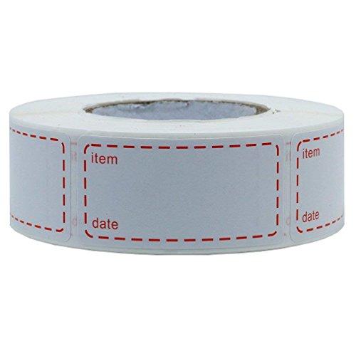 500 étiquettes congélation Autocollant Congelable Rouleau Étiquettes De Congélateur Taille 50 x 25 mm Étiquettes imprimée avec Date Pour autocollant d'aliment congelé, Nourriture, petit pot bébé.