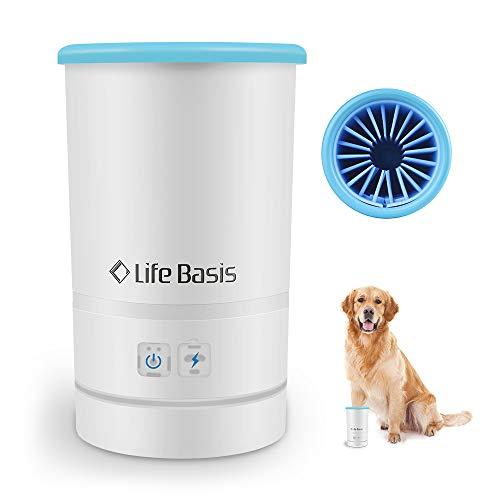 LifeBasis 足 クリーナー 足洗いカップ全自動式 充電式 ペットブラシカップ成犬 大型犬適用