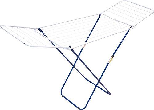 Monchy Pamplona Tendedero alas Seguro, Hierro epoxi, Blanco y Azul, 1.28x0.55x3.5 cm