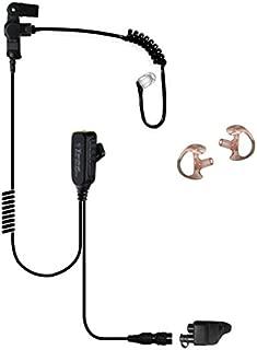 Tactical Ear Gadgets EP1328QR Hawk Lapel Mic with Quick Release for Harris Unity XG25 XG75 P5300 P7300 (Black Tube)