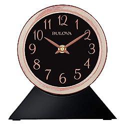 Bulova B5404 Port Jeff Clock, Aged Copper Finish, Black Base