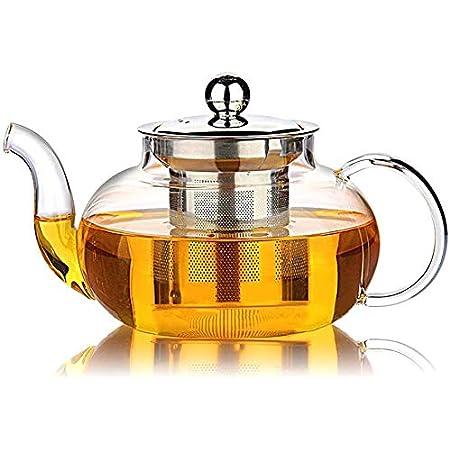 Glas Teekanne Kaffekanne 600ml 1000ml Sieb Teesieb Teeeinsatz Tee-Kanne Teapot
