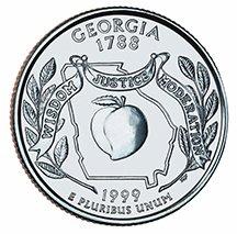 1999 D Georgia State Quarter Choice Uncirculated
