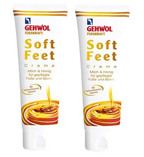 GEHWOL Fusskraft Soft Feet Creme Cream 2 x 125 ml Fußcreme mit Hyaluron