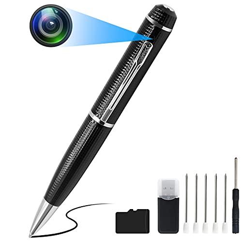 TANGMI Mini Kamera Stift HD 1080P Tragbare Kleine Mini Kamera Kugelschreiber für Home / Office / Meeting mit 32 GB Micro SD-Karte