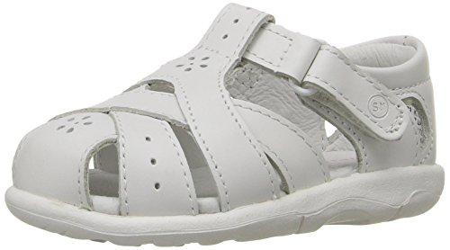 Stride Rite baby girls 2016 sandals, White, 4 Wide Toddler US
