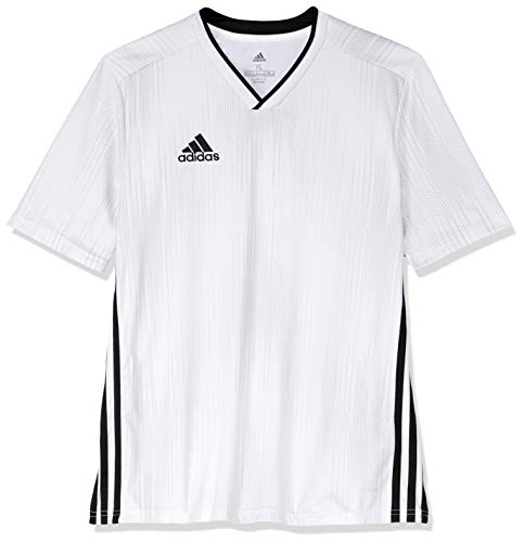 adidas Tiro 19 JSY Camiseta de Manga Corta, Hombre, White/Black, M