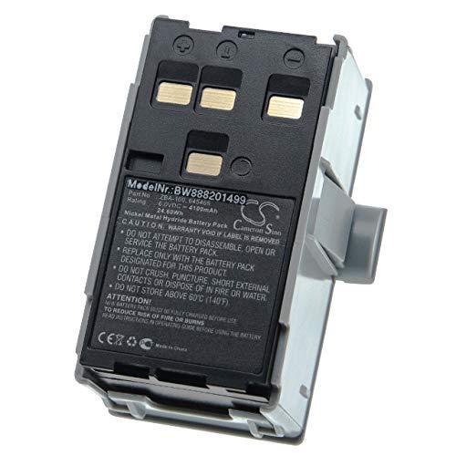 vhbw Batería reemplaza Geomax 645465, ZBA-100 para dispositivo medición láser, instrumento de medición (4100mAh 6V NiMH)