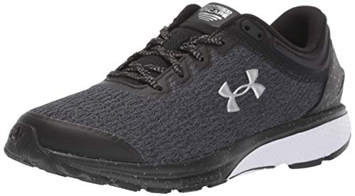 Under Armour Women's Charged Escape 3 Running Shoe, Black/White, 6